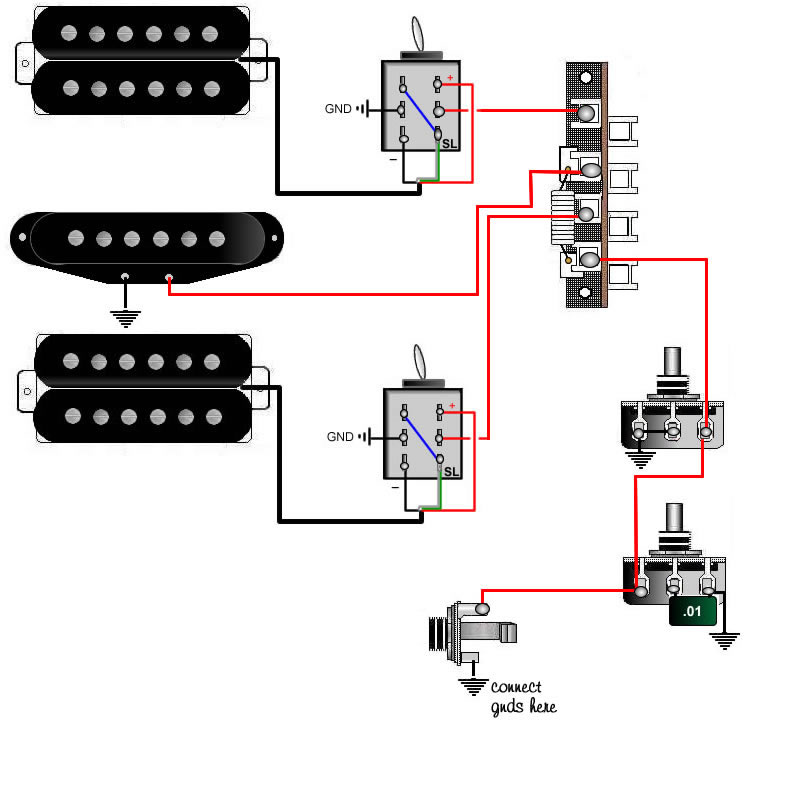 Guitar wiring, tips, tricks, schematics and links | Two Single Coil Guitar Wiring Diagram |  | skguitar.com