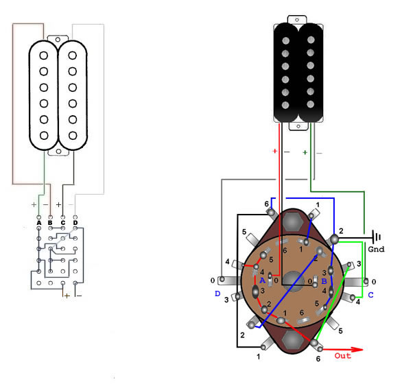 six way rotary switch for two singlecoils or one humbuckerskguitar.com